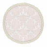 Blush Pink, Gold and White Damask and Polka Dot Playmat Tummy Time Baby and Infant Play Mat for Amelia Collection by Sweet Jojo Designs