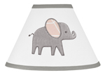 Blush Pink, Grey and White Lamp Shade for Watercolor Elephant Safari Collection by Sweet Jojo Designs