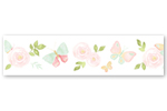 Blush Pink, Mint and White Watercolor Rose Wallpaper Wall Border for Butterfly Floral Collection by Sweet Jojo Designs