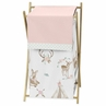 Blush Pink, Mint Green and White Boho Baby Kid Clothes Laundry Hamper for Woodland Deer Floral Collection by Sweet Jojo Designs