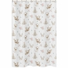Blush Pink, Mint Green and White Boho Bathroom Fabric Bath Shower Curtain for Woodland Deer Floral Collection by Sweet Jojo Designs