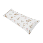 Blush Pink, Mint Green and White Boho Body Pillow Case Cover for Woodland Deer Floral Collection by Sweet Jojo Designs (Pillow Not Included)
