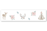 Blush Pink, Mint Green and White Boho Wallpaper Wall Border for Woodland Deer Floral Collection by Sweet Jojo Designs