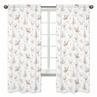 Blush Pink, Mint Green and White Boho Window Treatment Panels Curtains for Woodland Deer Floral Collection by Sweet Jojo Designs - Set of 2