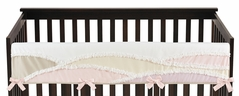 Boho Desert Sun Girl Long Front Crib Rail Guard Baby Teething Cover Protector Wrap by Sweet Jojo Designs - Blush Pink Mauve Gold Ivory Taupe Bohemian Mountains Southwest Nature Outdoors Minimalist Geometric