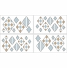 Brown and Blue Argyle Baby and Kids Wall Decal Stickers - Set of 4 Sheets