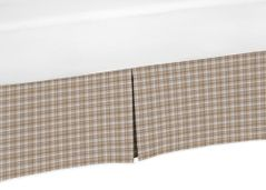 Brown Plaid Crib Bed Skirt for All Star Sports Baby Bedding Sets by Sweet Jojo Designs