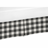 Buffalo Plaid Boy or Girl Baby Nursery Crib Bed Skirt Dust Ruffle by Sweet Jojo Designs - Black and White Check Rustic Woodland Flannel