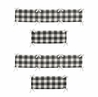 Buffalo Plaid Boy or Girl Baby Nursery Crib Bumper Pad by Sweet Jojo Designs - Black and White Check Rustic Woodland Flannel