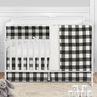 Buffalo Plaid Check Baby Boy or Girl Nursery Crib Bedding Set by Sweet Jojo Designs - 5 pieces - Black and White Rustic Woodland Flannel Country Lumberjack
