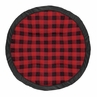 Buffalo Plaid Check Boy Baby Playmat Tummy Time Infant Play Mat by Sweet Jojo Designs - Red and Black Woodland Rustic Country Lumberjack