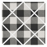 Buffalo Plaid Fabric Memory Memo Photo Bulletin Board by Sweet Jojo Designs - Black and White Check Rustic Woodland Flannel