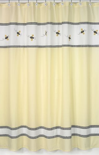 Bumble Bee Kids Bathroom Fabric Bath Shower Curtain - Click to enlarge