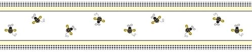 Bumblebee Baby and Childrens Wall Paper Border by Sweet Jojo Designs - Click to enlarge