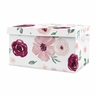 Burgundy and Pink Watercolor Floral Girl Small Fabric Toy Bin Storage Box Chest For Baby Nursery or Kids Room by Sweet Jojo Designs - Blush, Maroon, Wine, Rose, Green and White Shabby Chic Flower Farmhouse