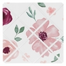 Burgundy Watercolor Floral Fabric Memory Memo Photo Bulletin Board by Sweet Jojo Designs - Blush Pink, Maroon, Wine, Rose, Green and White Shabby Chic Flower Farmhouse
