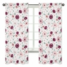 Burgundy Watercolor Floral Window Treatment Panels Curtains by Sweet Jojo Designs - Set of 2 - Blush, Maroon, Wine, Rose, Green and White Shabby Chic Flower Farmhouse