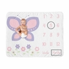Butterfly Girl Milestone Blanket Monthly Newborn First Year Growth Mat Baby Shower Memory Keepsake Gift Picture by Sweet Jojo Designs - Pink and Purple Floral Flower Garden