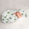 Cactus Floral Baby Girl Cocoon and Beanie Hat 2pc Set Jersey Stretch Knit Sleeping Bag for Infant Newborn Nursery Sleep Wrap Sack by Sweet Jojo Designs - Pink and Green Boho Watercolor Desert