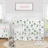 Cactus Floral Baby Girl Nursery Crib Bedding Set by Sweet Jojo Designs - 5 pieces - Pink and Green Boho Watercolor