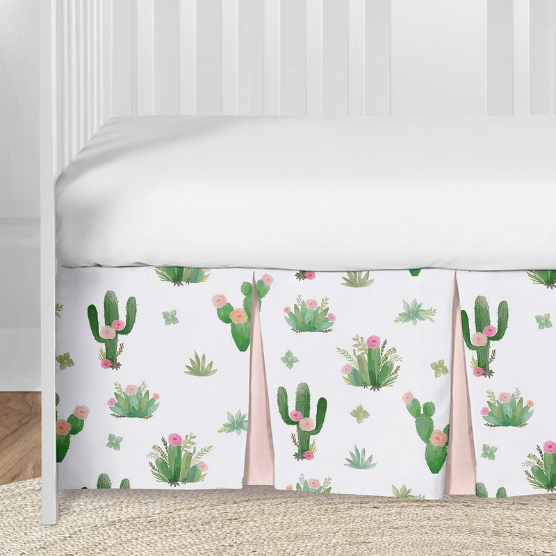 Cactus Floral Baby Girl Nursery Crib Bedding Set By Sweet Jojo Designs 5 Pieces Pink And Green Boho Watercolor Only 159 99