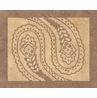 Camel and Chocolate Paisley Accent Floor Rug
