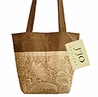 Camel and Chocolate Paisley Microsuede Handbag/Tote Bag