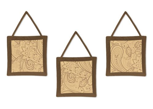 Camel and Chocolate Paisley Wall Hangings - Click to enlarge