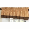 Camel and Chocolate Paisley Window Valance