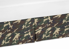 Camouflage Crib Bed Skirt for Green Camo Bedding Sets
