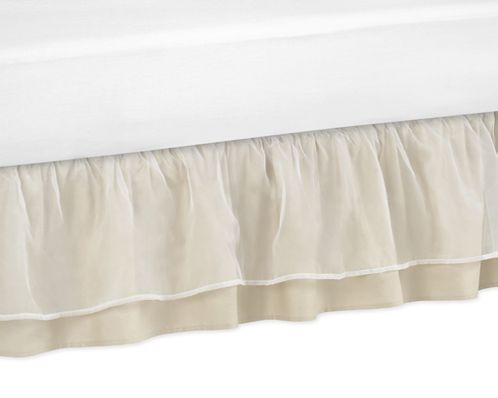 Champagne and Ivory Victoria Bed Skirt for Toddler Bedding Sets by Sweet Jojo Designs - Click to enlarge