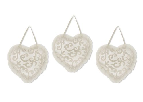Champagne and Ivory Victoria Wall Hanging Accessories by Sweet Jojo Designs - Click to enlarge