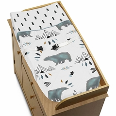 Changing Pad Cover for Bear Mountain Watercolor Collection by Sweet Jojo Designs
