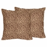 Cheetah Animal Print Decorative Accent Throw Pillows by Sweet Jojo Designs - Set of 2