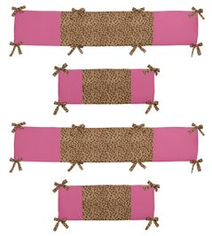 Cheetah Girl Collection Crib Bumper by Sweet Jojo Designs