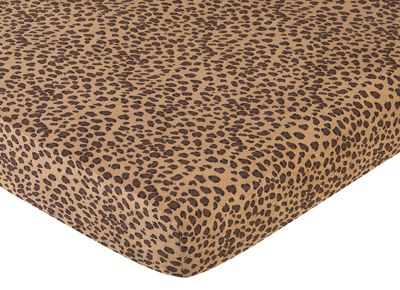 Cheetah Girl Fitted Crib Sheet for Baby and toddler Bedding Sets by Sweet Jojo Designs - Cheetah Print - Click to enlarge