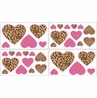 Cheetah Girl Pink and Brown Baby, Kids and Teens Wall Decal Stickers - Set of 4 Sheets