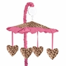 Cheetah Girl Pink and Brown Musical Crib Mobile