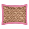 Cheetah Girl Pink and Brown Pillow Sham