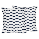 Chevron Wave Print Decorative Accent Throw Pillows for Blue Whale Collection by Sweet Jojo Designs - Set of 2