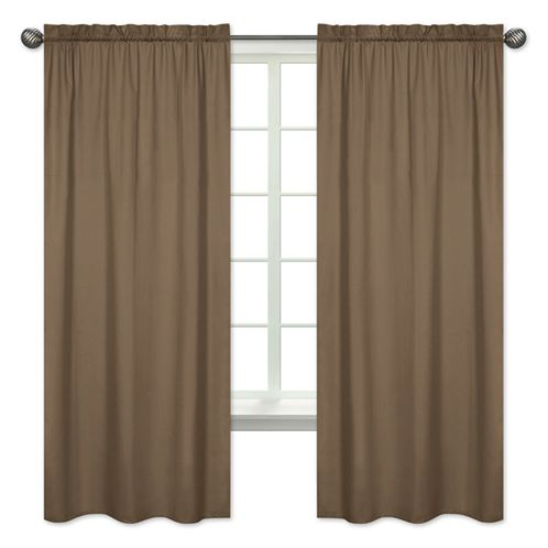 Chocolate Brown Window Treatment Panels by Sweet Jojo Designs - Set of 2 - Click to enlarge