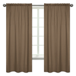 Chocolate Brown Window Treatment Panels by Sweet Jojo Designs - Set of 2