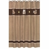 Chocolate Teddy Bear Kids Bathroom Fabric Bath Shower Curtain