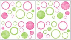 Circles Peel and Stick Wall Decal Stickers Art Nursery Decor by Sweet Jojo Designs - Set of 4 Sheets