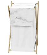 Clothes Laundry Hamper for Grey, Black and White Marble Bedding by Sweet Jojo Designs