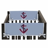 Come Sail Away Baby Crib Side Rail Guard Covers by Sweet Jojo Designs - Set of 2