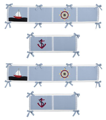 Come Sail Away Collection Crib Bumper by Sweet Jojo Designs - Click to enlarge
