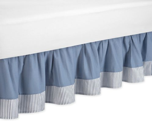 Come Sail Away Nautical Bed Skirt for Toddler Set by Sweet Jojo Designs - Click to enlarge