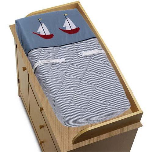 Come Sail Away Nautical Changing Pad Cover - Click to enlarge