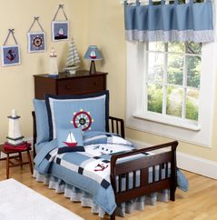 Come Sail Away Nautical Toddler Bedding - 5 pc Set